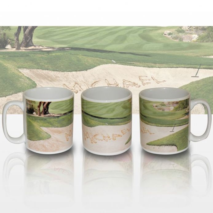 Personalised Golf Bunker Mug